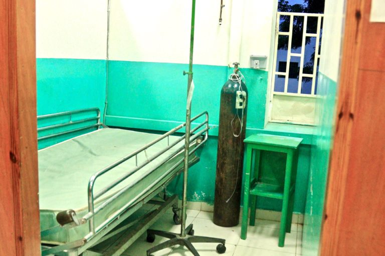 A room in the only hospital serving the northern region.